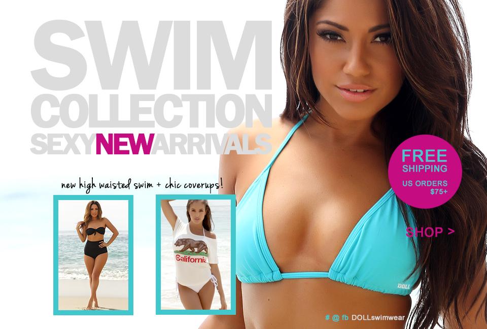 doll swimwear high waisted bikinis